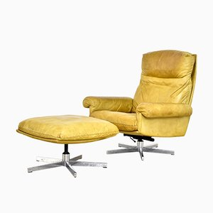 Vintage DS35 Sessel mit Hocker von de Sede