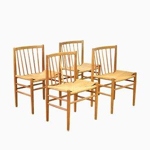 Esszimmerstühle von Jørgen Baekmark für FDB Møbler, 1950er, 4er Set