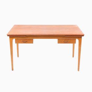 Mid-Century Danish Free-Standing Desk, 1950s
