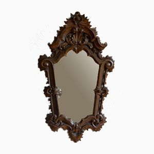Antique Carved Solid Wooden Mirror