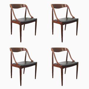 Mid-Century Chairs by Johannes Andersen for Uldum Mobelfabrik, Set of 4