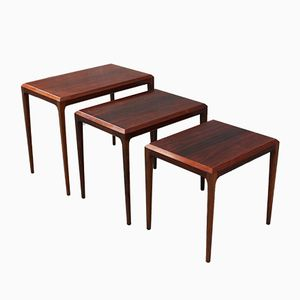 Vintage Rosewood Nesting Tables from Silkeborg, 1960s