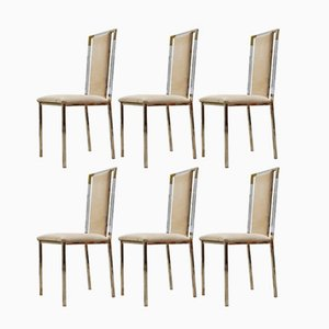 Vintage Italian Lucite Dining Chairs, 1970s, Set of 6