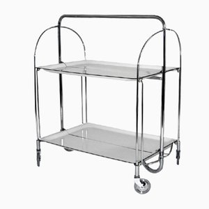 Mid-Century Collapsible Serving Trolley from Bremshey Solingen