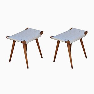 Czech Footstools from USVD, 1950s, Set of 2