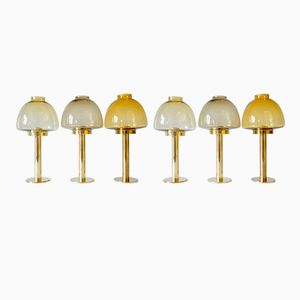 Yellow Lantern Lamps by Hans Agne Jakobsson for Markaryd, 1960s, Set of 6