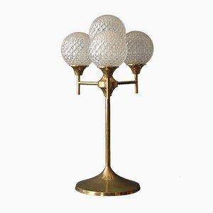 Grande Lampe en Laiton & Verre, 1960s