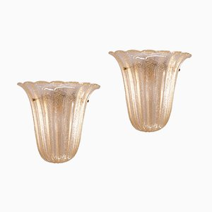 Vintage Italian Sconces from Barovier e Toso, Set of 2