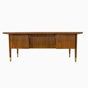 Vintage Rosewood and Brass Executive Desk from Abbess
