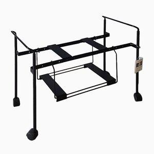 Black Enamelled Steel Teulada Extensible TV Cart by Oscar Tusquets & Lluis Clotet for Zanotta, 1988