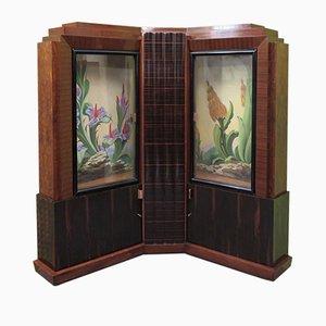 Vintage Veneer Corner Cupboard