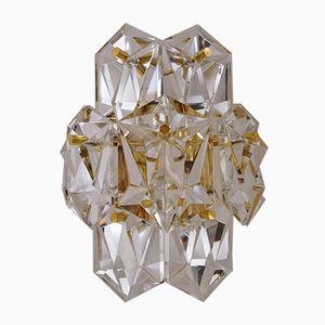 Vergoldete Kristallglas Wandlampen von Kinkeldey, 1970er, 2er Set