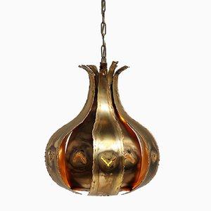 Brutalist Brass Pendant by Svend Aage Holm Sørensen, 1960s