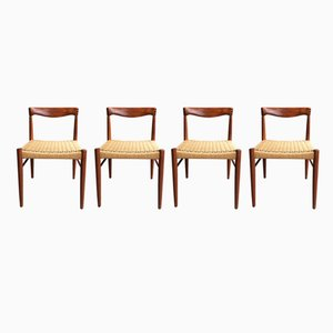 Mid Century Teak Dining Chairs By H. W. Klein For Bramin, 1960s, Set Of