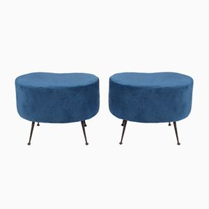 Mid-Century Italian Stools, Set of 2
