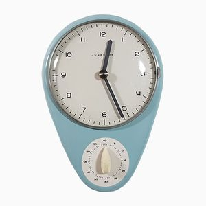 Vintage Kitchen Clock by Max Bill for Junghans Meister