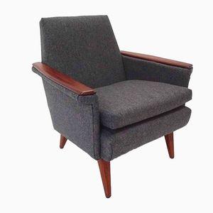 Norwegischer Sessel in Dunkelgrauer Wolle & Teak, 1960er