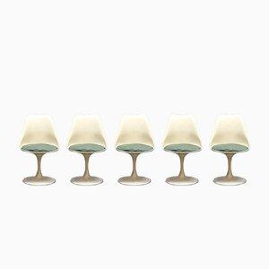 Mid-Century Modern Tulip Dinner Chairs by Eero Saarinen for Knoll, Set of 5