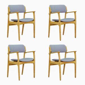 Mid-Century Chairs by Erik Buch for Oddense Maskinsnedkeri/ O.D. Møbler, Set of 4