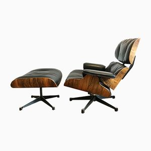 Rio Rosewood Lounge Chair & Ottoman by Charles & Ray Eames for Herman Miller, 1960s