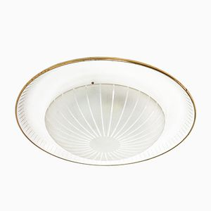 Vintage Ceiling Light in Perforated Metal