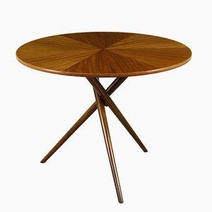 Mahagoni Furnier Tisch mit Beinen aus Buchenholz, 1950er