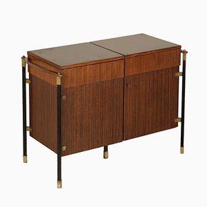 Foldable Bar Cabinet in Rosewood Veneer, 1960s
