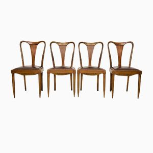 Mid-Century Chairs, 1940s, Set of 4