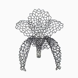 Schmiedeeisen Flower Stuhl von Anacleto Spazzapan, 2005