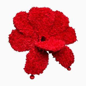 Roter Flower Stuhl von Anacleto Spazzapan, 2006
