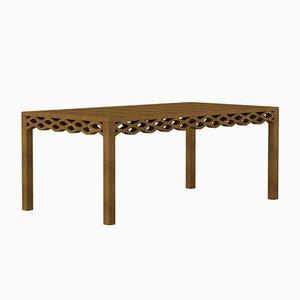 Table en Planches de Noyer par Mario Alessiani pour Dialetto Design