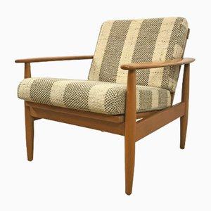 Cherry Wood Easy Chair, 1960s