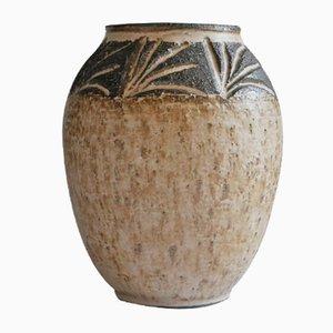Vaso in ceramica di M&J Hansen per Løvemose, Danimarca, anni '60