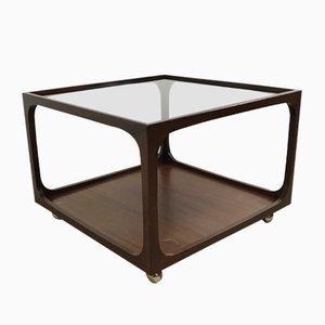 Glass & Mahogany Coffee Table by Wilhelm Renz, 1960s