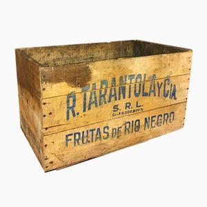Vintage Rio Negro Trauben Holzkiste