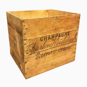Vintage Charles Heidsieck Champagner Holzkiste
