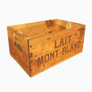 Vintage Wooden Lait Mont Blanc Milk Crate