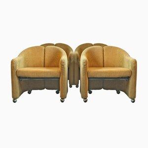 PS 142 Sessel von Eugenio Gerli für Tecno, 1966, 4er Set