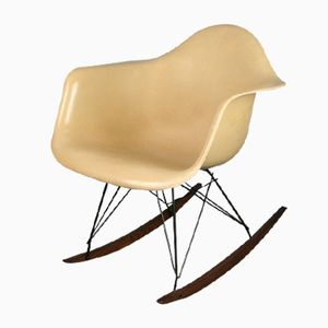 RAR Parchment Rocking Chair by Charles & Ray Eames for Herman Miller, 1960s