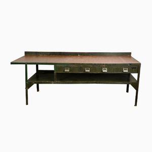 Tavolo da lavoro grande vintage in metallo