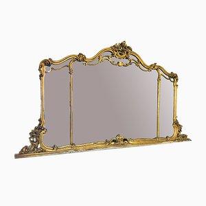 Großer Goldener Vintage Spiegel, 1950er