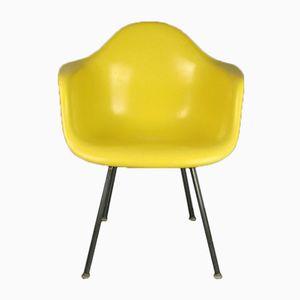 Gelber Vintage DAX Chair von Charles & Ray Eames für Herman Miller