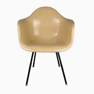 Ockerfarbener Vintage DAX Chair von Charles & Ray Eames für Herman Miller