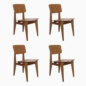 Vintage CD Chairs by Marcel Gascoin for Arhec-Sicam, Set of 4