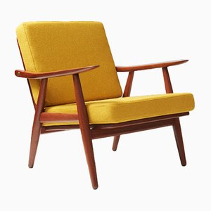 GE-270 Teak Sessel von Hans Wegner für Getama, 1950er