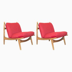 Vintage Lounge Chairs by Joseph André Motte for Steiner, Set of 2