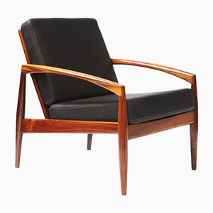 Paper Knife Brazilian Rosewood Lounge Chair by Kai Kristiansen for Magnus Olesen, 1950s