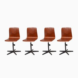 Mid-Century Desk Chairs from Galvanitas, Set of 4