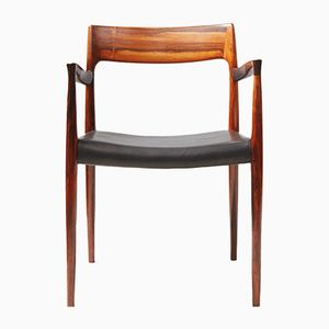Model 57 Rosewood Armchair by Niels Moller
