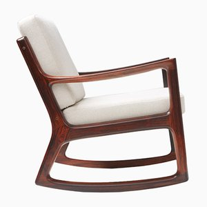 Mid-Century Rosewood Senator Rocking Chair by Ole Wanscher for France & Søn / France & Daverkosen
